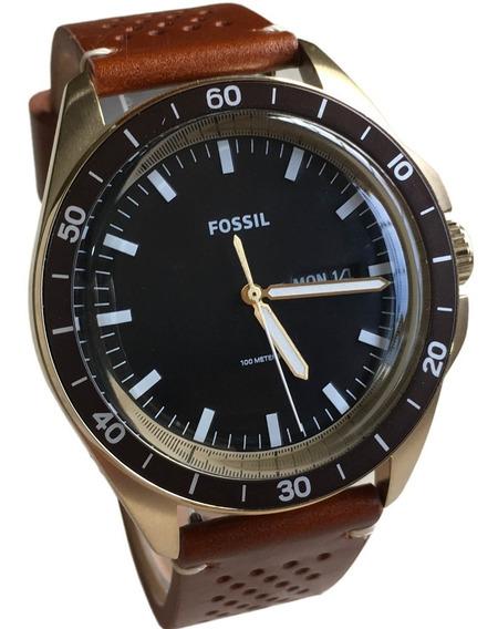 Relógio Fossil Masculino Fs5320 Nate Leather - Original Nf