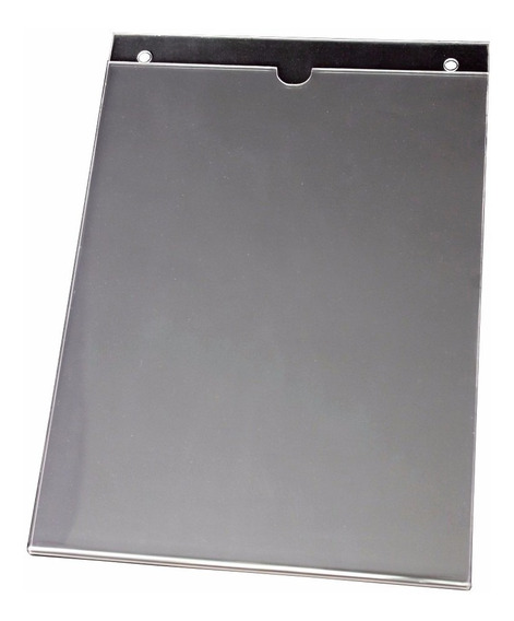 Porta-afiche Carta Vertical En Acrílico Para Pared C/huecos