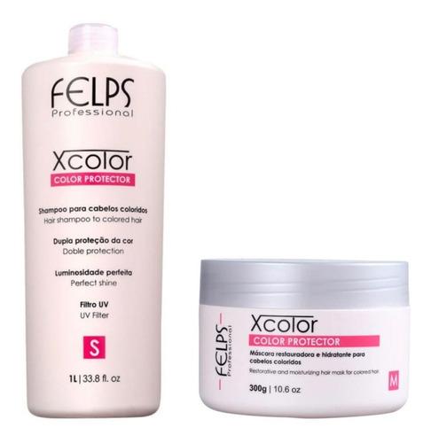 Felps Profissional Xcolor Shampoo 1 Litro + Máscara 300g