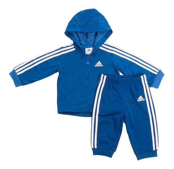Conjunto Jogger Shiny Hooded Azul adidas