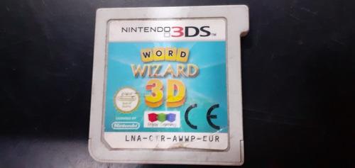 Juego Nintendo 3ds Word Wizard 3d Original Sin Caja!!