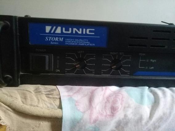 Potência Power Ampli Unic Storm Zx300 W 2 Canais Batato
