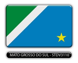 Adesivo Automotivo Bandeira Estado Mato Grosso Sul Resinado