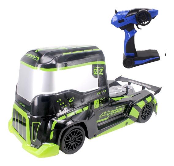 Caminhão Carrinho Carro Controle Remoto Formula Truck Verde