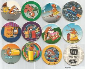 8 Tazos Da Coleção Avimage Pog Mcdonald´s