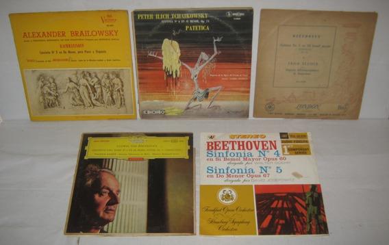 Lote De 5 Discos Vinilo Música Clásica Para Decoración !!!