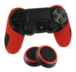 30 Capas Silicone Controle Ps4 E Xbox Xox One + Grips