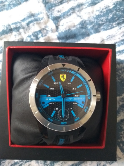 Relógio Scuderia Ferrari Masculino Borracha Preta - 830252