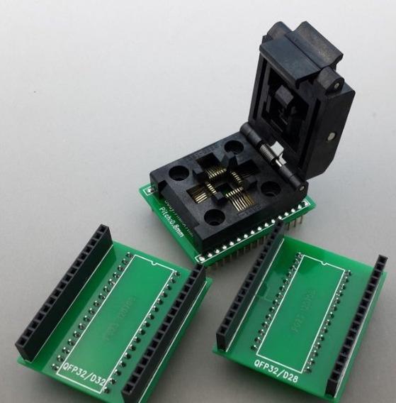 Socket Adaptador Qfp32 Tqfp32 Dip32 Dip28 0.8mm Programador