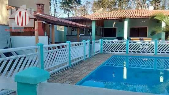 Chácara Com Excelente Área De Lazer, 02 Dormitórios À Venda, 1000 M² Por R$ 350.000 - Rural - Socorro/sp - Ch0461