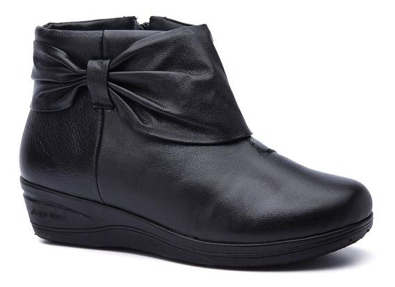 Bota Feminina 158 Em Couro Preto Doctor Shoes