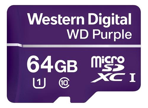 Cartão De Memória 64gb Micro Sd Intelbras Wd Purple