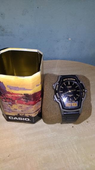 Relógio Casio Anadigi Aw 24 2318 Preto/dourado