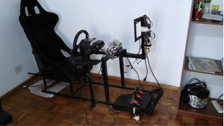Simulador Auto De Carrera Completo Estructura+butaca+volante