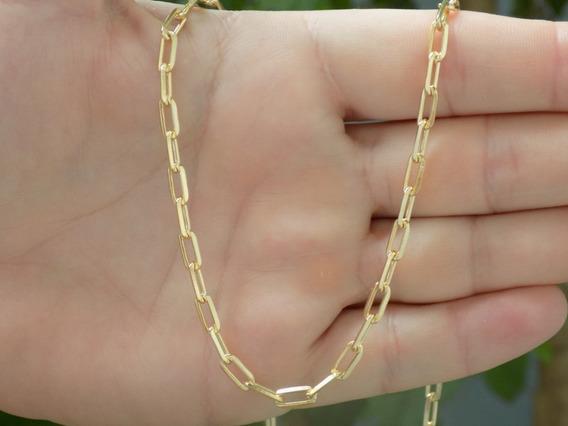 Cordão Masculino Cartier Banhado Ouro 18k Garantia 1 Ano 2mm