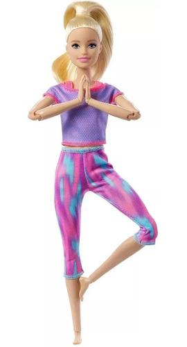Imagem 1 de 6 de Boneca Barbie Loira - Feita Para Mexer - Made To Move Mattel
