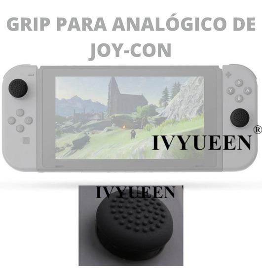 Kit Nintendo Switch Grip Para Joycon Analogico Case Controle