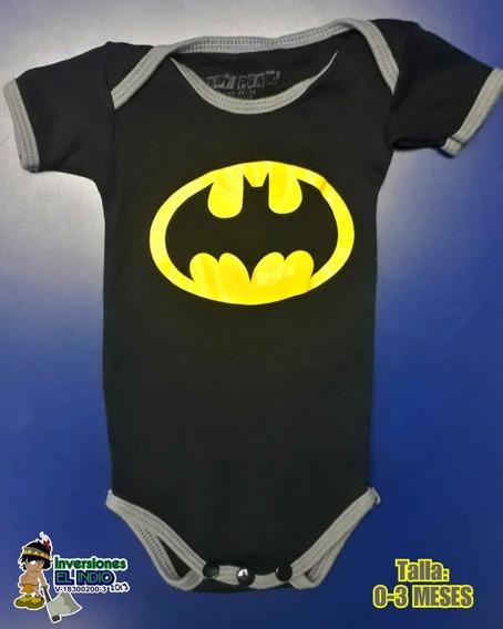 Body Para Bebé Recién Nacido Talla 0-3 Meses Batman