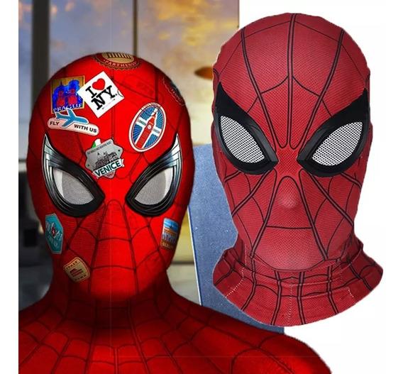 Máscara De Spiderman, Tela De Lycra, Película Lejos De Casa