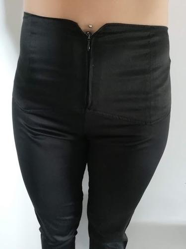 Pantalon Tiro Alto Saten Rasado De Vestir Mujer Negro Usado Mercado Libre