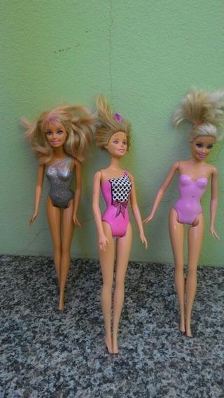 Três Bonecas Barbies Originais