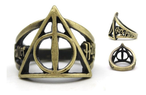 Harry Potter Anillo Importado Reliquias De La Muerte 1.8cm