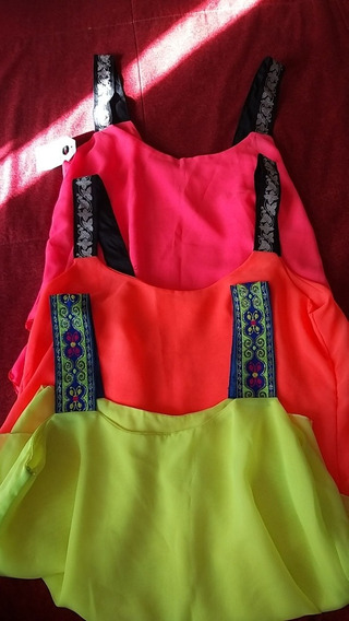 Blusas Para Damas En Colores Fluorescentes