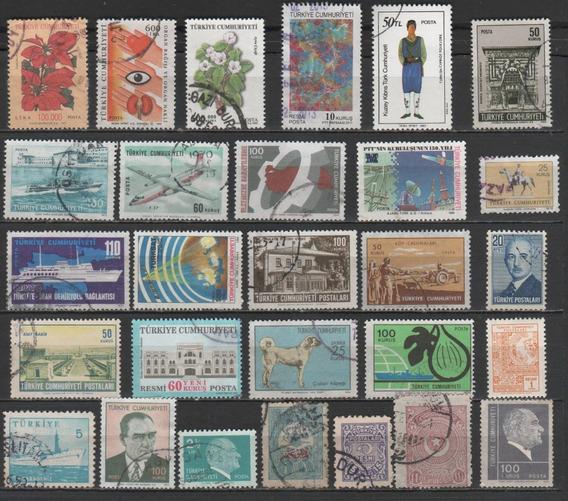 Turquia - Coleção De Selos Antigos Diferentes - 8013
