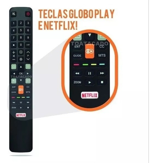 Controle Remoto Tv Toshiba Tcl Smart Netflix Globo Play Novo