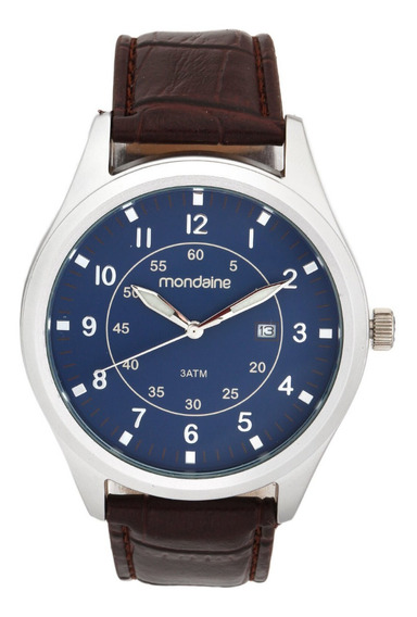 Relógio Mondaine 83356g0mvnh1 Prata/marrom Lindo E Barato