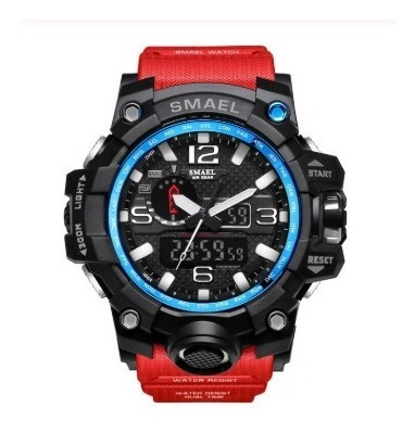 Relógio Smael Tático Militar Prova D´água S-shock Vermelho