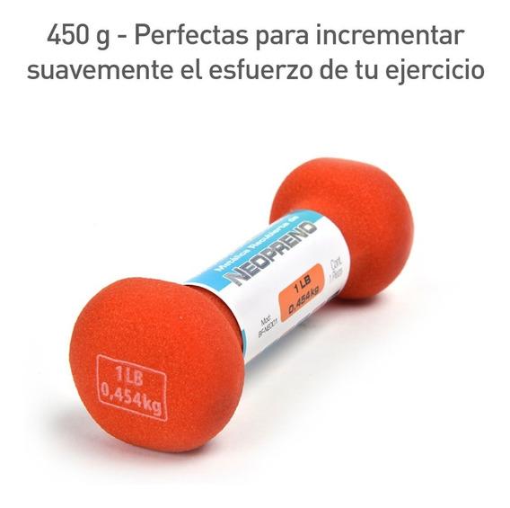 Pesas Mancuernas 1 Pza 1 Lb (0.45 Kg) Neopreno Bf-neo01