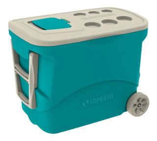 Caixa Térmica 50 Litros C/ Rodinha Camping, Cooler Soprano