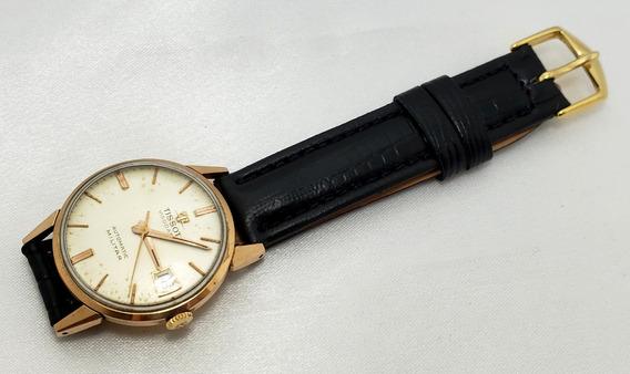 Relógio Masc. Tissot Visodate Automáti Militar Ouro 18k Antigo