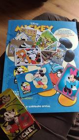 Album Mickey Capa Dura Completo Colar Figurinhas + 36 Cards