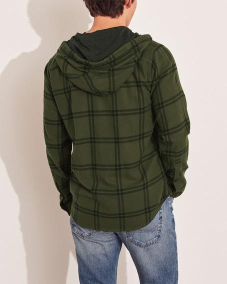 Camisa Hollister Masculina 100% Original Importada Verde M