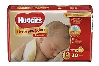 Huggies Pañales Suaves Cuidado Bebes Prematuros Tamaño P 30
