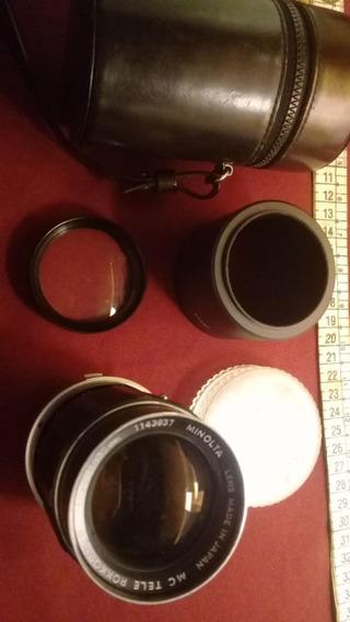 Objetiva Minolta Tele Rokkor-x Qd 135mm 1:3.5
