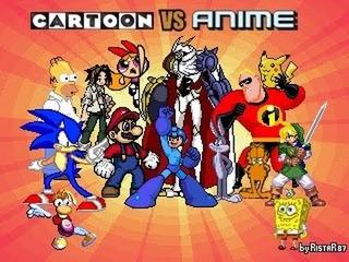 Juego Cartoon Vs Anime M.u.g.e.n