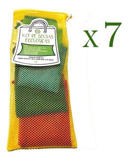 7 Kit De Bolsas Ecológicas Para Frutas Y Verduras 5 Piezas