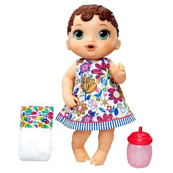 Boneca Baby Alive Hora Do Xixi Morena E0499 Hasbro