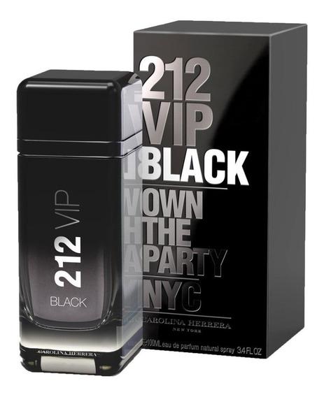 Perfume 212 Vip Black Edp 200ml - 100% Original