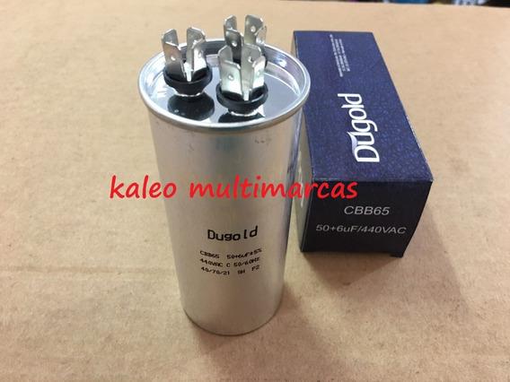 Capacitor Duplo 50+6uf 440v Ac Para Ar Condicionado Split