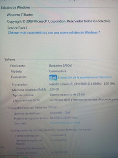 Notebook Con Windows 7