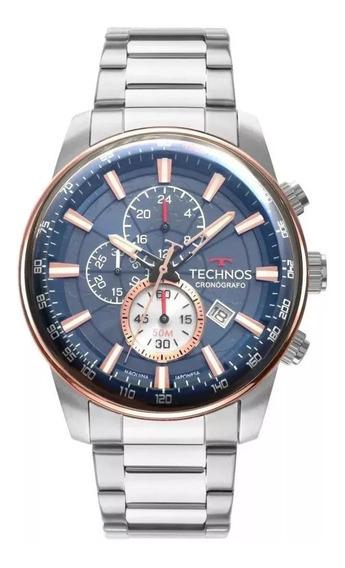 Relógio Masculino Technos Grandtech Js15fo/1a 47mm Aço Prat