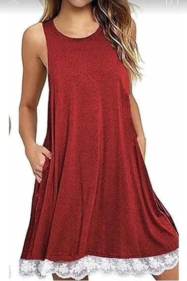 Vestido De Verano Para Mujer, Musculosa, Con Bolsillos
