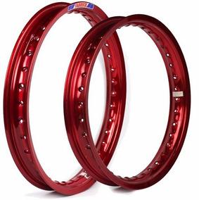 Par Aro Aluminium Nxr Bros 125 150 160 Vermelho Vitral