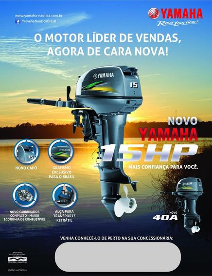 Motor De Popa Yamaha 15 Gmhs 6x Sem Juros