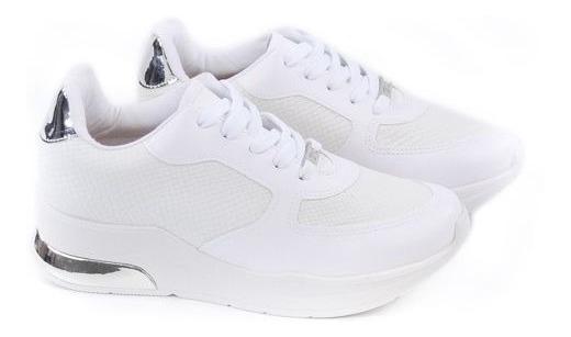 E Tenis Fem 1304.101 Branco/prata Vizzano 20789