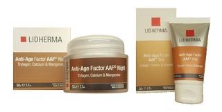 Lidherma Kit Crema Anti Age Factor Day + Night Piel Seca Antiarrugas Día Y Noche Belgrano
